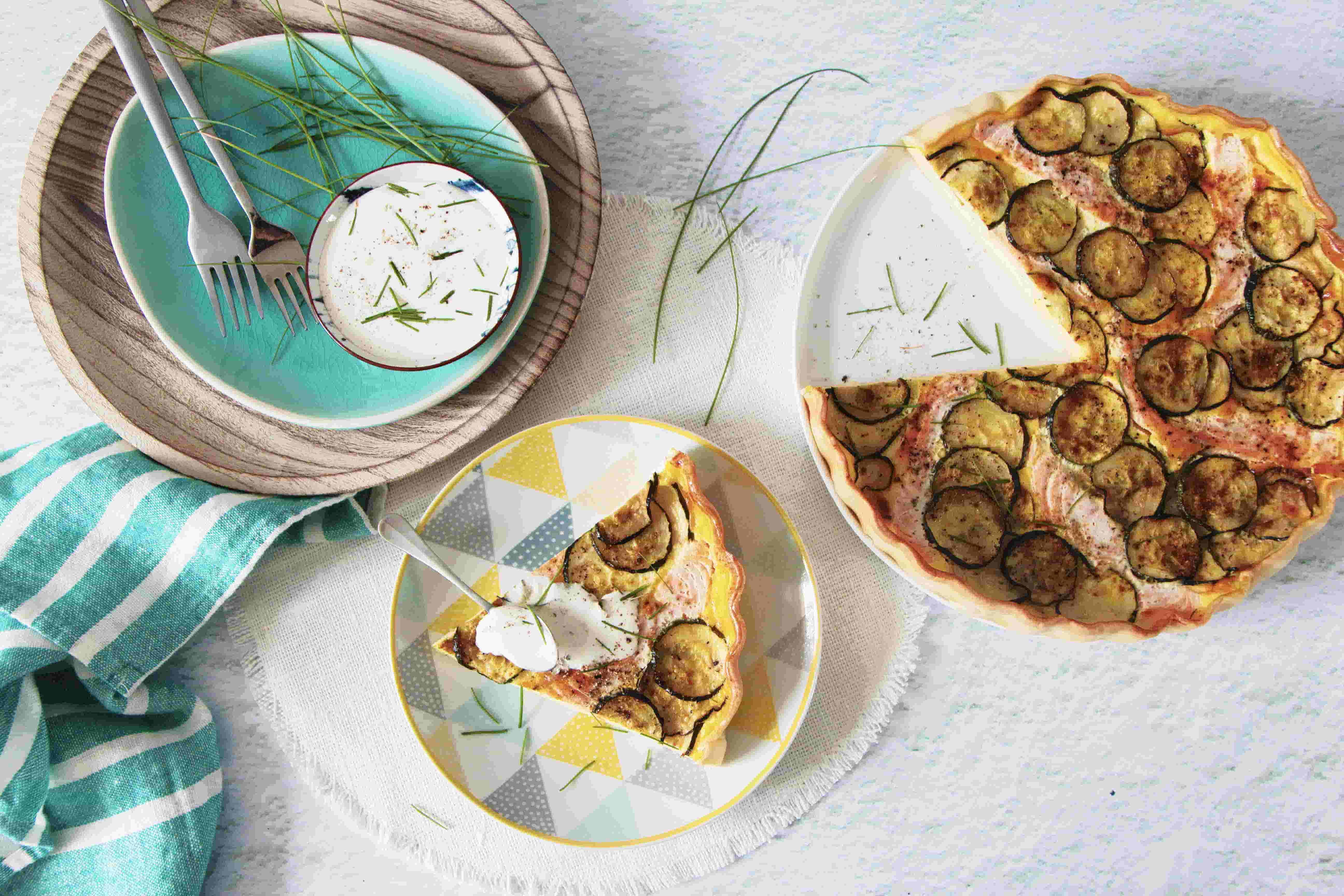 Tarte aux courgettes et au saumon