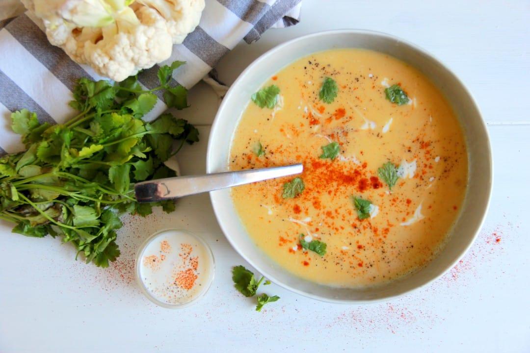 Velouté de chou-fleur : recette facile pour 6 personnes - Bridélice