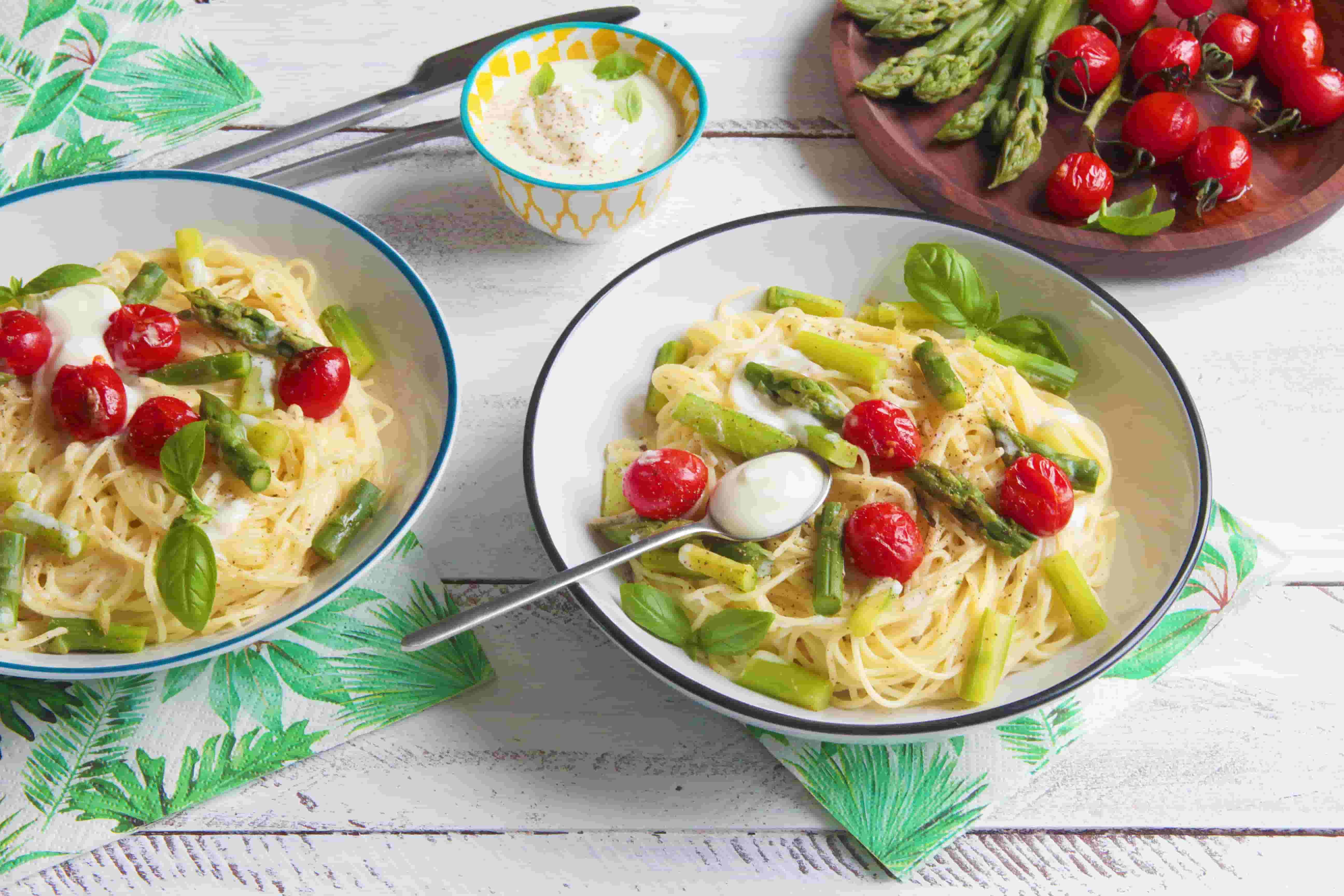 Capellini aux asperges vertes